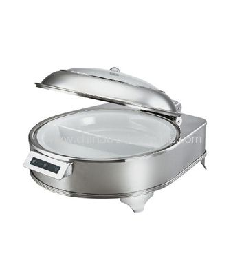 ELECTRICAL CHAFER/GLASS LID/SELF-OPENING
