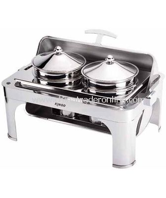 OBLONG SOUP STATION W/S.S LEGS from China
