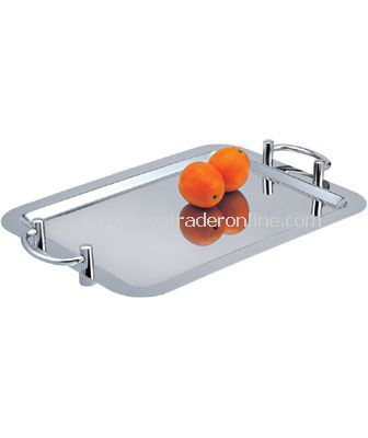 OBLONG TRAY WITH HANDLE