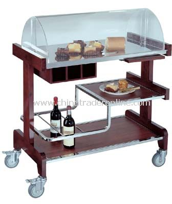 PASTRY CART WITH ACRYLIC COVER from China