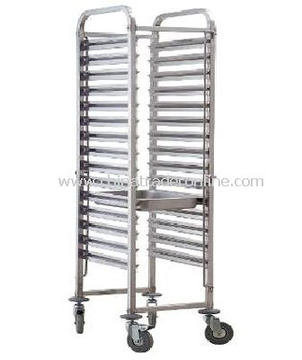 TRAY RACK TROLLEYS/OPEN SHEET PAN&TRAY RACK FOR 16 PANS 1/1