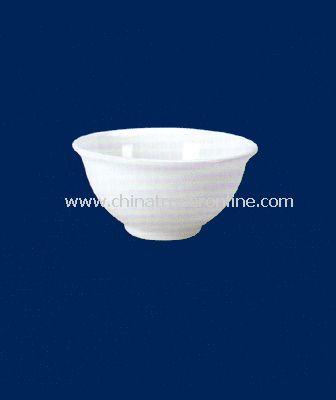 WHITE PORCELAIN SOUP BOWL
