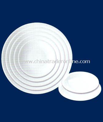 WHITE PORCELAIN SOUP PLATE
