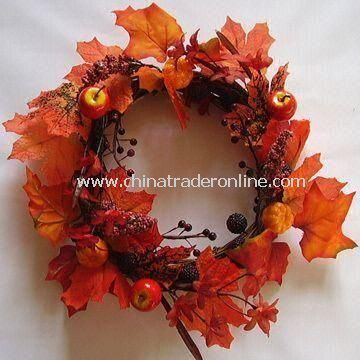 100% Handmade Artificial Apple/Pear/Berry Wreath, Suitable for Home Decoration