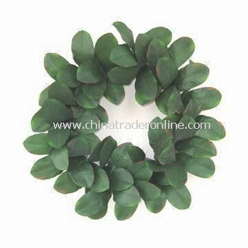 100% Handmade Green Leaves Wreath for Home Decoration, Customized Designs are Accepted