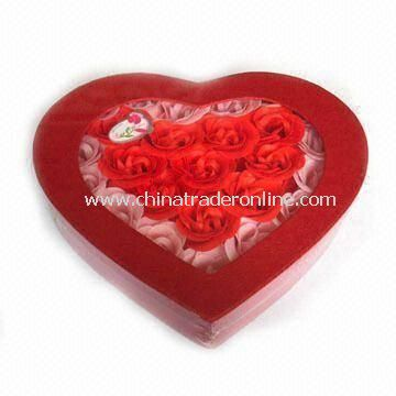 28-piece Rose Shaped Soap in Gift Box, Suitable for Valentines and Mothers Day Gift