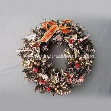 Artificial Christmas Wreath, Various Designs are Available, Ideal for Home and Holiday Decorations from China