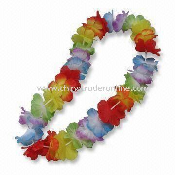 Artificial Flower Lei, Comes in Hot Fashion Style for Hawaii Parties, Diversified Colors and Designs