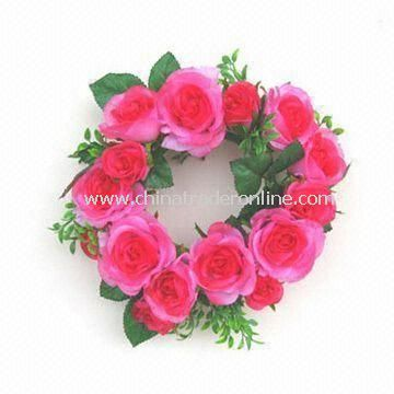Artificial Handmade Rose Wreath, Ideal for Home Decorations, Customized Designs are Welcome