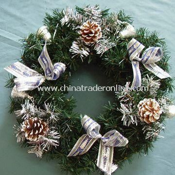 Artificial Wreath, Ideal for Christmas Decorations, with High Quality and Reasonable Price