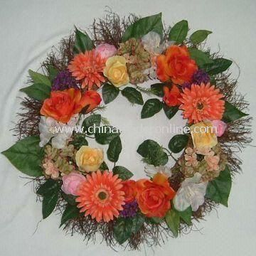Artificial Wreath, Various Designs, Colors, and Sizes are Available, OEM Orders are Welcome