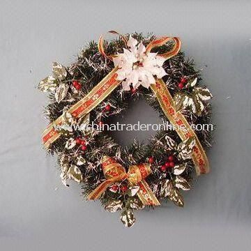 Artificial Wreath for Christmas, Home, and Holiday Decorations, Customized Designs are Welcome