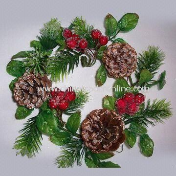 Artificial Wreath for Christmas, with High Quality and Reasonable Price