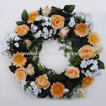 Artificial Wreaths, Various Colors and Sizes are Available, with Competive Price