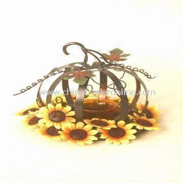 Candle Holder in Pumpkin Design, Suitable for Thanksgiving Day