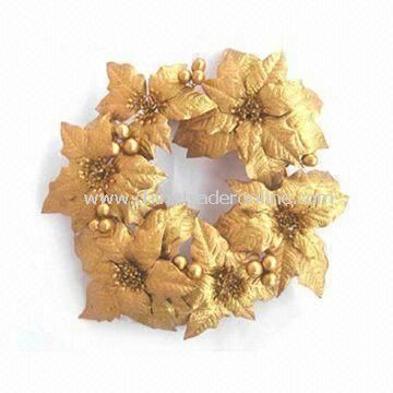 Christmas Artificial Handmade Wreath, Ideal for Home Decorations, Customized Designs are Welcome