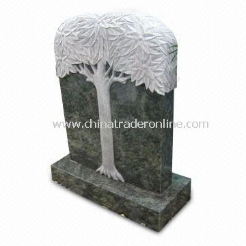 Fine Polished and Embossed Granite Tombstone/Gravestone, Used for Memorial