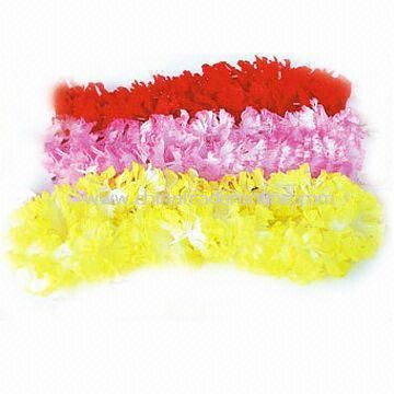 Flower Leis with 90cm Long, Made of 100% Polyester, Available in Various Colors