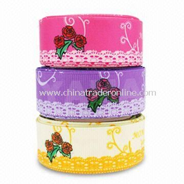 Flower Ribbon, Available in Colors and Width, Suitable for Mothers Day and Party Decorations