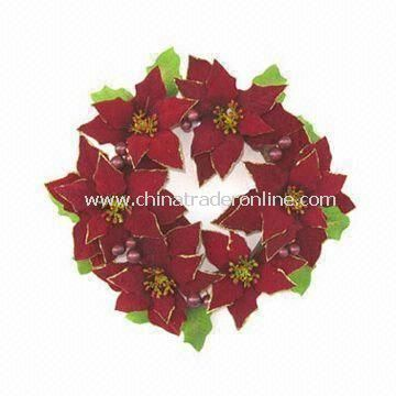 Handmade Artificial Wreath for Christmas and Home Decorations, Customized Designs are Welcome