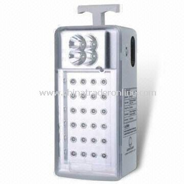 LED Emergency Lantern Lamp with 6V/4Ah Rechargeable Sealed Lead-Acid Battery