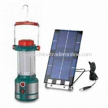 LED Solar Camping Lantern with 32-piece Super-bright LEDs, Operated by Rechargeable Battery