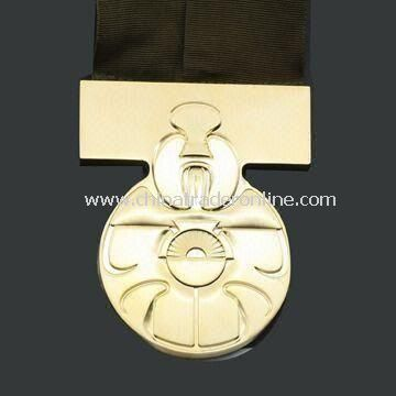 Medal/Memorial Coin, Made of Iron, Brass, and Zinc Alloy, Various Thicknesses are Available