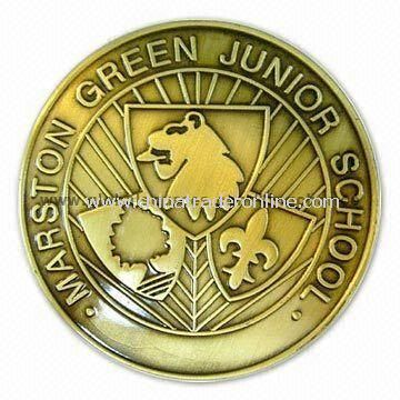 Memorial Coin, Customized Coins are Available, Made of Copper, Bronze, Iron, or Zinc Alloy