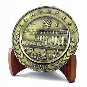 Memorial Coin, Embossed Design on Both Sides, Available in Various Colors