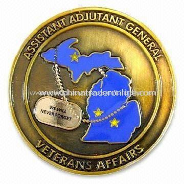 Memorial Collectible Coin, Composed of Copper, Bronze, Iron, and Zinc Alloy