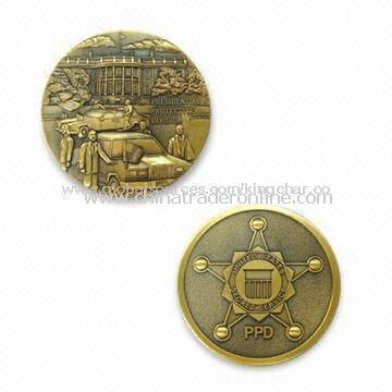 Memorial Collectible Coin with Antique Glod Plating and 3D Finish
