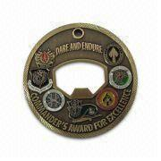 Memorial Copper Stamped Coin with Soft Enamel Color Filled, Available in Different Sizes