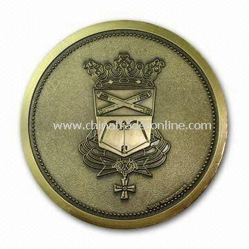 Memorial Souvenir Metal Coin, Suitable for Promotional Purposes, with 2D or 3D Surface from China