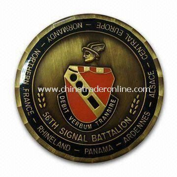 Memorial Souvenir Metal Coin, Suitable for Promotions, with 2D or 3D Surface from China