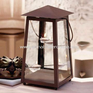 Metal Garden Lantern Candle Holder for Home and Outdoor Lighting