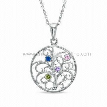 Mothers Day Gift of the Family Tree Pendant Necklace, Special Design, Measures 18-inch