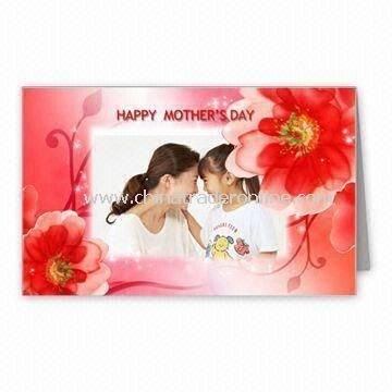 Mothers Day Greeting Card, Measures 12.5 x 17.8cm, Customized Designs are Accepted from China