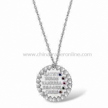 Pendant Necklace, Special Gift for Mothers Day, Made of Alloy