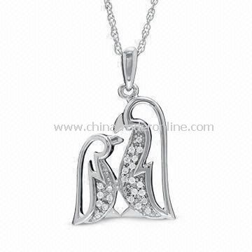 Pendant Necklace for Mothers Day Gift, Made of alloy, Available in Size is 18-inch