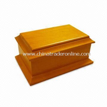 Pet Memorial Urn, Made of Rubber Wood, in Oak Finish from China