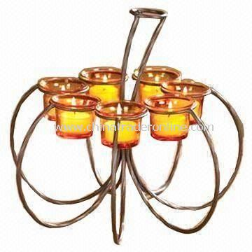 Pumpkin-like Tealight Candle Holder, Made of Frosted Iron, Suitable for Thanksgiving Day