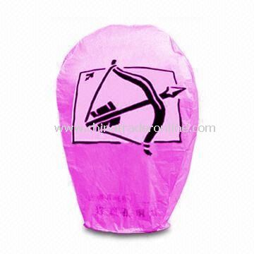 Sky Lantern, Made of 100% Biodegradable Material, Suitable for Various Occasions