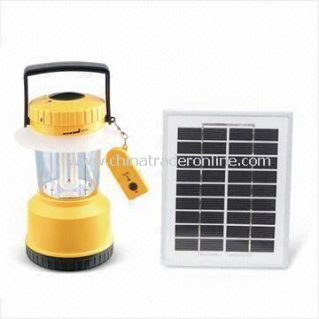 Solar LED Camping Lantern, Made of ABS Material, Operated by 1.2V/1,800mAh NiMH Rechargeable Battery
