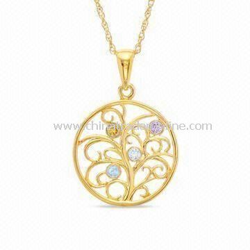 Special Mothers Day Gift of the Family Tree Pendant Necklace, Measures 18-inch