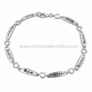 Special Mothers Day Gift of the Multi-Language Mom Bracelet, Measures 7.75-inch