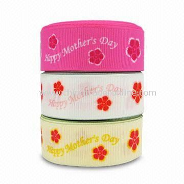 Webbing Ribbon, Customized Designs are Welcome, Suitable for Mothers Day Gift Packaging