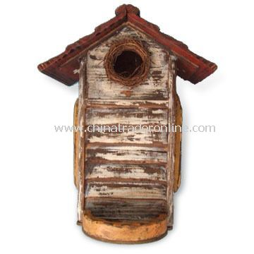 Wooden Birdhouse, Available in Size of 23 x 18 x 30cm, Suitable for Thanksgiving Decoration from China
