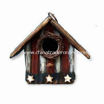 Wooden Birdhouse, for Thanksgiving or American National Day Decoration from China