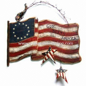 Wooden Plaque Hanging, for Thanksgiving or American National Day Decoration