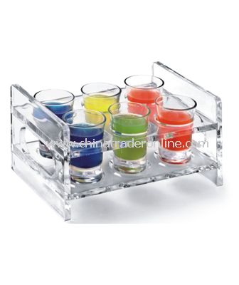 ACRYLIC WINE GLASS RACK 2X3 CUPS from China